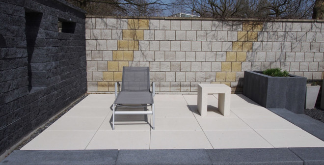 terrasse beton stein